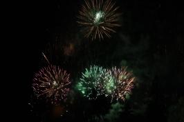 Random fireworks exploded on a September evening.
