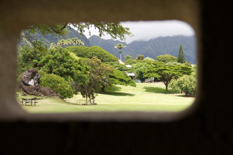 Ka U'i O Manoa is the rock on the left.