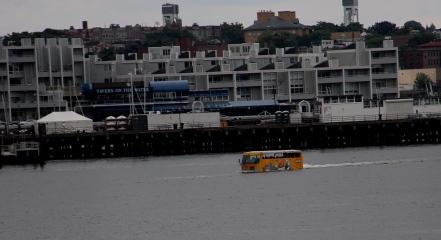 Super Duck on the move in Boston.